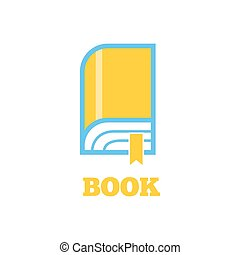 Book Logo Sign Design Flat - New book logo icon flat style...