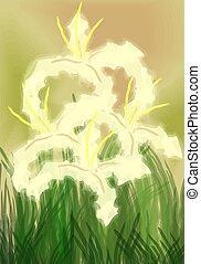 Digital painting of crops.