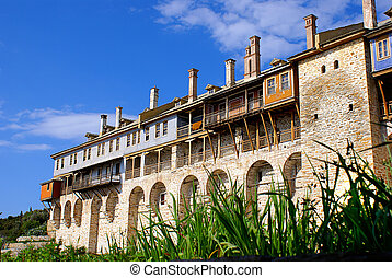 Monastery Xenofontos on Mount Athos, Chalkidiki, Greece