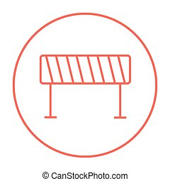 Road barrier line icon - Road barrier line icon for web,...