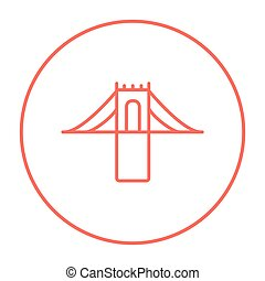 Bridge line icon. - Bridge line icon for web, mobile and...