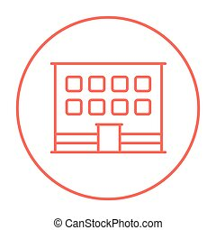 Office building line icon - Office building line icon for...
