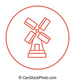 Windmill line icon.