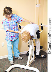 Physical Therapy - Spine Stretch - Physical therapist at the...