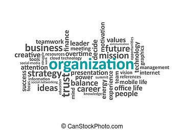 Organization - Typography graphic work, consisting of...