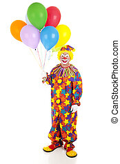 Classic Clown with Balloons