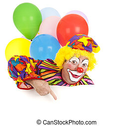 Pointing Clown Design Element - Pointing clown with...