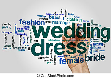 Wedding dress word cloud concept