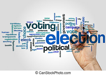 Election word cloud - Election concept word cloud background