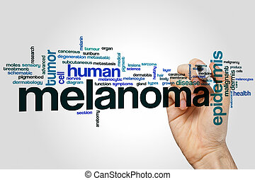 Melanoma word cloud concept