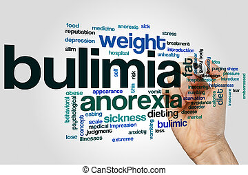 Bulimia word cloud concept