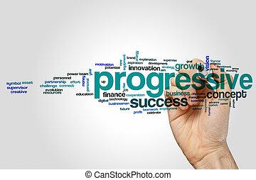 Progressive word cloud concept - Progressive word cloud