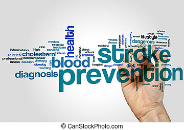 Stroke prevention word cloud