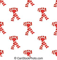 Red scarf seamless pattern