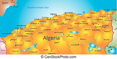 map of Algeria country