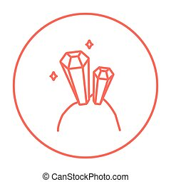 Gemstones line icon - Gemstones line icon for web, mobile...