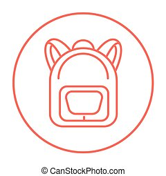 Backpack line icon. - Backpack line icon for web, mobile and...