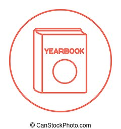 Yearbook line icon. - Yearbook line icon for web, mobile and...