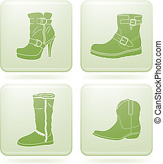 Olivine Square Set: Woman\'s Shoes - Winter footwear theme...