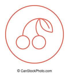 Cherry line icon.