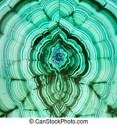 polished surface of malachite mineral gem stone - square...