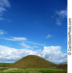 Silbury Hill - View of Silbury Hill an ancient artificial...