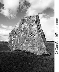 Avebury Standing Stones - Close up view of Ancient standing...
