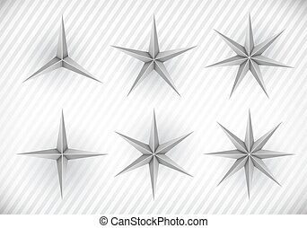 Collection of stars - Collection of three, four, five, six,...