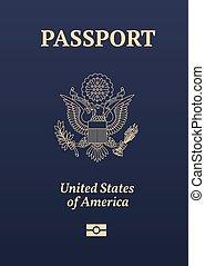 US passport seal - US passport image.