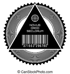 New world order - All seeing eye, new world order words in...