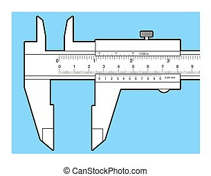 Vernier caliper tool isolated on white Sliding caliper...