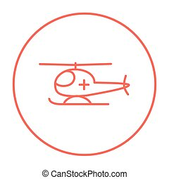 Air ambulance line icon. - Air ambulance line icon for web,...
