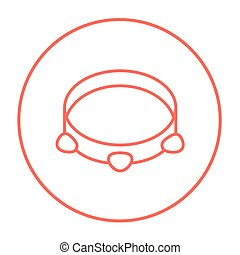 Tambourine line icon - Tambourine line icon for web, mobile...