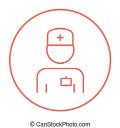Nurse line icon. - Nurse line icon for web, mobile and...