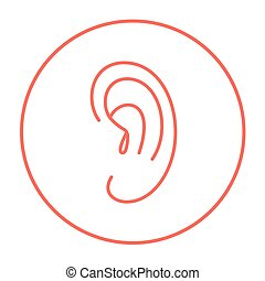 Human ear line icon. - Human ear line icon for web, mobile...