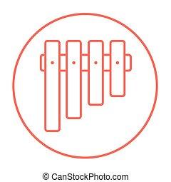 Vibraphone line icon - Vibraphone line icon for web, mobile...