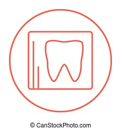 X-ray of tooth line icon - X-ray of the tooth line icon for...