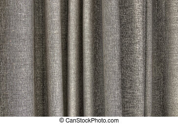 Taupe curtain detail - closeup detail of taupe color curtain...
