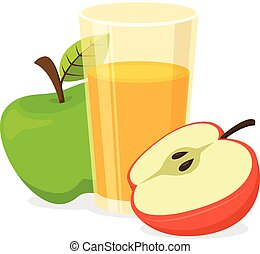 Vector Clipart of Glass of vegetable juice. - Healthy natural ...