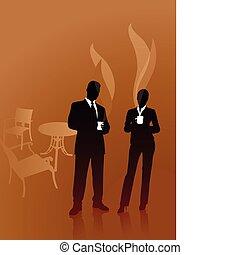 Business People on Coffee Break