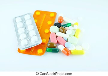 A variety of medications - A variety of drugs supplement...