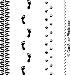 Track Print Footsteps Original Vector Illustration Simple...
