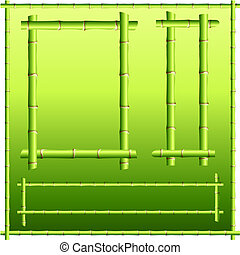 bamboo border elements - Original Vector Illustration:...