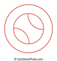 Tennis ball line icon. - Tennis ball line icon for web,...