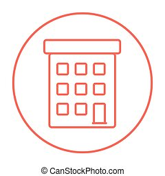 Condominium building line icon - Condominium building line...