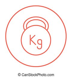 Kettlebell line icon - Kettlebell line icon for web, mobile...