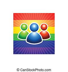 User Group with Gender Symbols