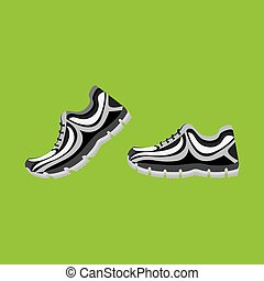 running shoes design, vector illustration eps10 graphic