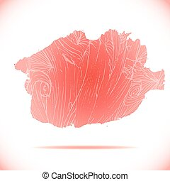 Fabulous red vector stains for a background design.