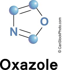 Oxazole vector illustration. - Oxazole is the parent...